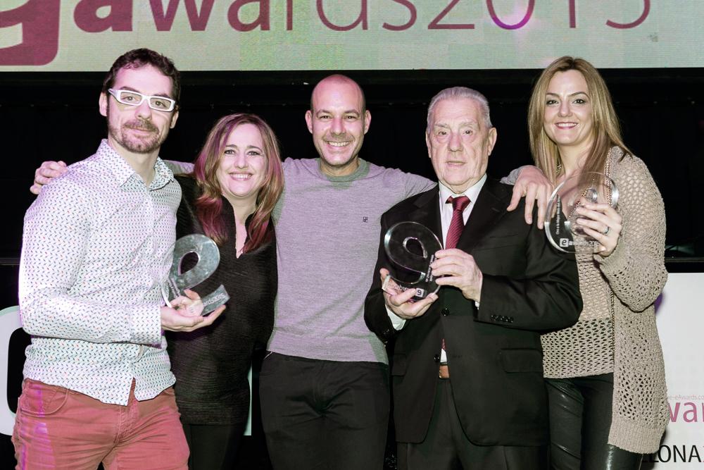 Echaleku y LaMejorNaranja en la entrega de premios eAwards