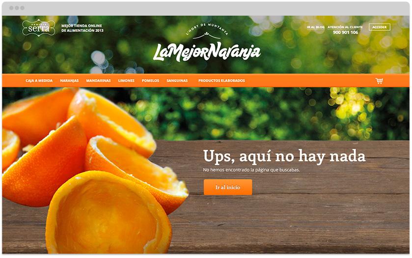 Error 404 en LaMejorNaranja