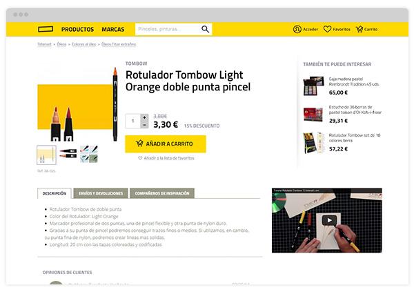 Ficha de producto de Totenart