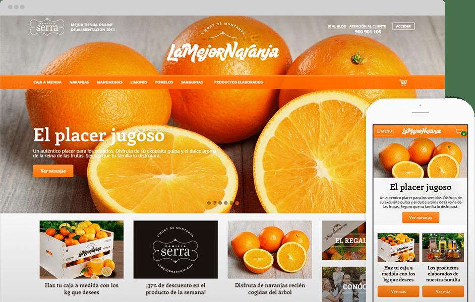 Home de tienda online de La mejor naranja