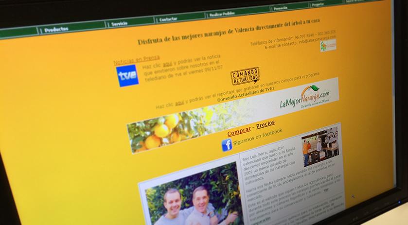 Primera tienda online de lamejornaranja.com mediante formulario