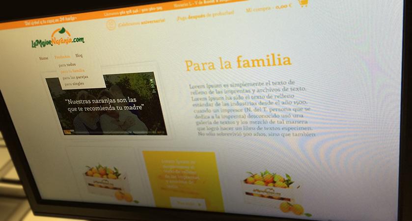 Diseño anterior de la web lamejornaranja.com