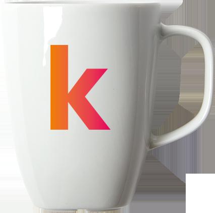 kuombo taza con letra K