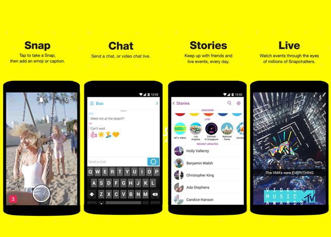 opciones comunicacion snapchat
