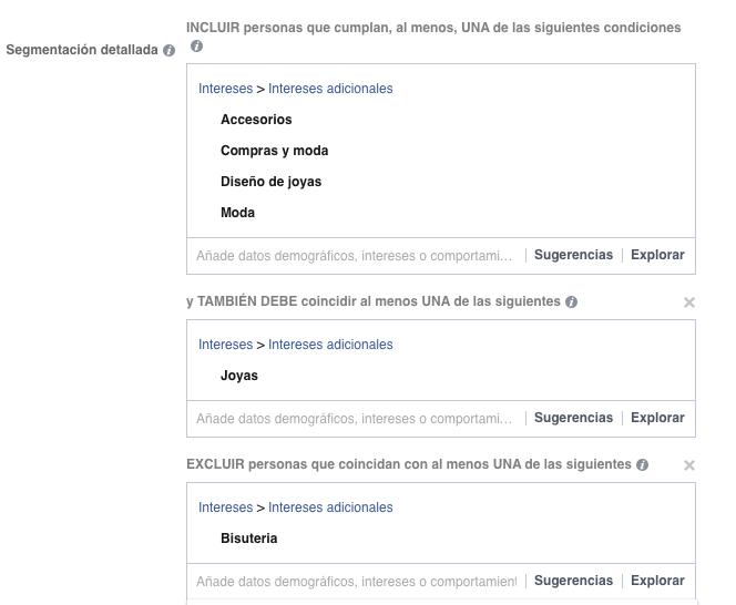 segmentacion acotada facebook ads