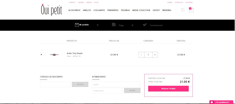 Carrito tienda online OuiPetit