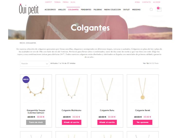 linea de estilo imagenes tienda online mejora conversion Ouipetit