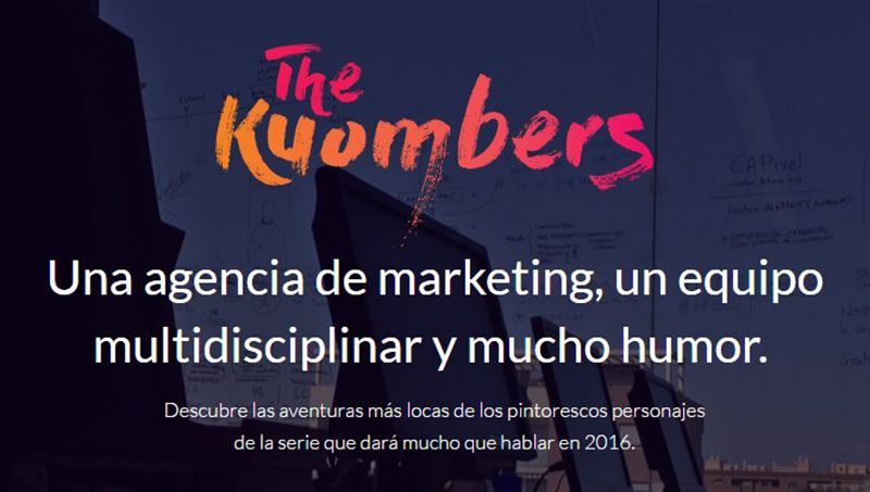 Cabecera de la webserie The Kuombers