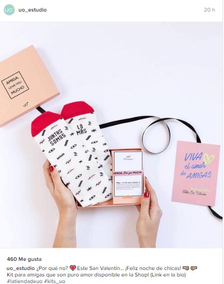 acciones San valentin - promo instagram tienda online