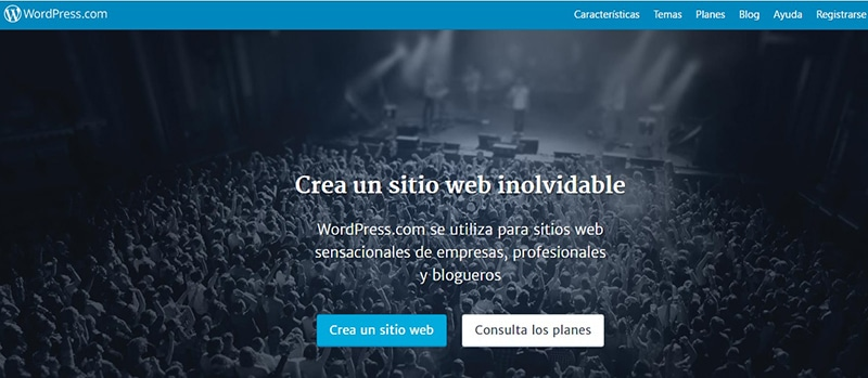 Propuesta valor home de WordPress